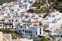 Visiting the village of Frigiliana, Costa del Sol - Spain Holiday Stock Images