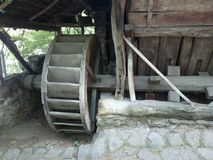 Old nature friendly way of producing electricity. Visiting Village Museum in Bucharest Royalty Free Stock Photography