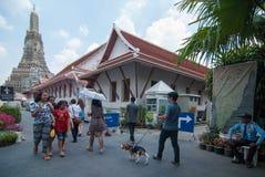 Visiting Wat Arun Stock Image