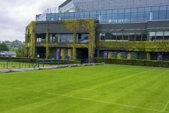 Visiting Wimbledon courts Royalty Free Stock Images