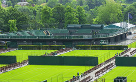 Visiting Wimbledon courts Stock Images