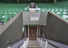 Visiting Wimbledon Place Stock Photo