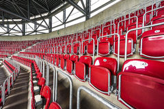 Visiting WWK Arena. At the tribunes of WWK Arena - the official playground of FC Augsburg. Germany stock photography
