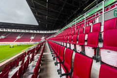 Visiting WWK Arena. At the tribunes of WWK Arena - the official playground of FC Augsburg. Germany stock photo
