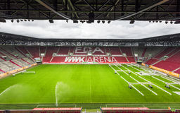 Visiting WWK Arena. View on WWK Arena - the official playground of FC Augsburg. Germany royalty free stock images