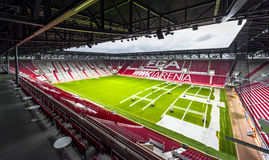 Visiting WWK Arena. View on WWK Arena - the official playground of FC Augsburg. Germany royalty free stock photos