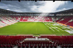 Visiting WWK Arena. View on WWK Arena - the official playground of FC Augsburg. Germany royalty free stock photo