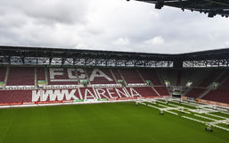 Visiting WWK Arena. View on WWK Arena - the official playground of FC Augsburg. Germany royalty free stock image