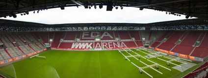 Visiting WWK Arena. View on WWK Arena - the official playground of FC Augsburg. Germany royalty free stock photography