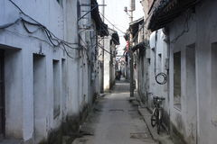Visiting Xincheng old town in a common sunny day alone Royalty Free Stock Photo