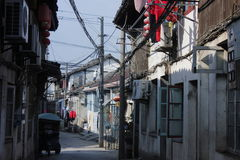 Visiting Xincheng old town in a common sunny day alone Royalty Free Stock Image