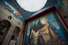 VisitingThe Dalí Theatre-Museum, on October 12, 2012 in Figueres, Spain Stock Photo