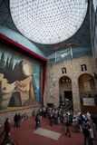 VisitingThe Dalí Theatre-Museum, on October 12, 2012 in Figueres, Spain Stock Photos