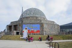 Visitng de muchos niños el planetario de Adler foto de archivo libre de regalías