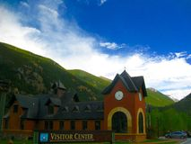 Visitor Center. A visitor center in the Colorado Rocky Mountains Royalty Free Stock Photos