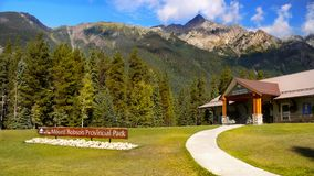 Mount Robson Provincial Park, British Columbia,Canada. Visitor Center - Mount Robson Provincial Park, British Columbia, Canada Royalty Free Stock Images