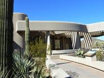 Visitor Center at Saguaro National Park. Cacti and building outside of Saguaro National Park Visitor Center, Tucson, Arizona stock image