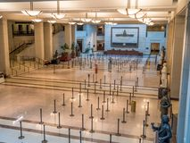 United States Capitol Visitor Center in Washington DC. The Visitor Center in the United States Capitol Center after opening hours royalty free stock images