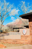 Visitor Center at Zion National Park Royalty Free Stock Photo
