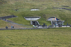 Visitor Centre at Cliffs of Moher is built into the hillside Royalty Free Stock Image