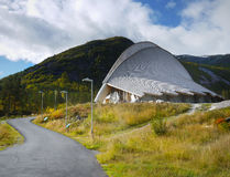 Visitor Centre Unique Building Norway Royalty Free Stock Photos