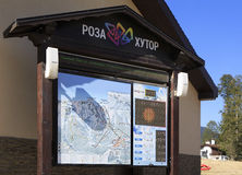 Visitor information gondola in Krasnaya Polyana. Stock Photo