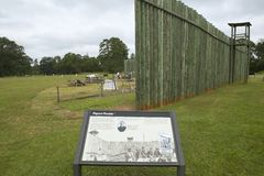 Visitor map of National Park Andersonville or Camp Sumter, site of Confederate Civil War prison and cemetery for Yankee Union pris royalty free stock photo