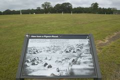Visitor map of National Park Andersonville or Camp Sumter, site of Confederate Civil War prison and cemetery for Yankee Union pris. Oners royalty free stock photography