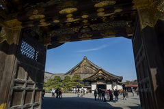 Visitor and Nijo Castle Stock Images