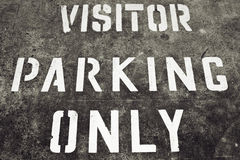 Visitor Parking Only Sign Stock Photos