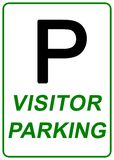 Visitor Parking Sign. Isolated in white Royalty Free Stock Photos