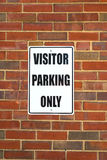 Visitor parking sign Royalty Free Stock Photo