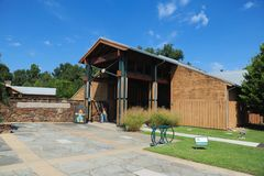 Visitor's center at the Lichterman Nature Center in Memphis, Tennessee. Stock Photos