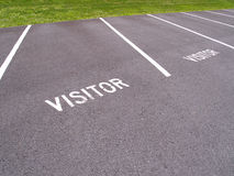 Visitor wording painted on a pavement Stock Photography