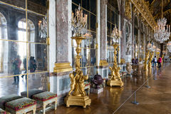 Visitors admiring the Hall of Mirrors Palace Versailles near Paris, France Royalty Free Stock Images