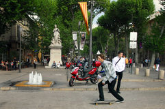 Visitors at Aix-en-Provence France Stock Photo