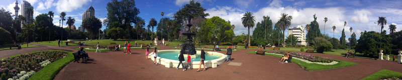 Visitors in Albert park in Auckland New Zealand Stock Images