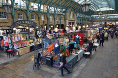 Visitors in Apple Market in Covent Garden in London, UK Royalty Free Stock Photos
