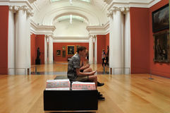 Visitors in Auckland Art Gallery New Zealand Royalty Free Stock Images