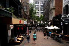 Visitors in Auckland CBD - New Zealand royalty free stock photo