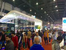 Visitors at Auto Expo 2016 at Noida, India Stock Photography