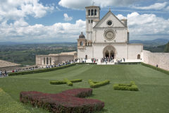 Visitors, Basilica of Saint Francis, Assisi, Italy Stock Image