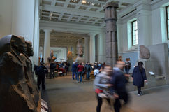 Visitors in the British Museum in London UK Royalty Free Stock Images