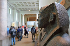 Visitors in the British Museum in London UK Stock Photo