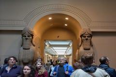 Visitors in the British Museum in London UK Stock Image