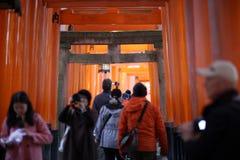 Visitors Buddhist temple Stock Image