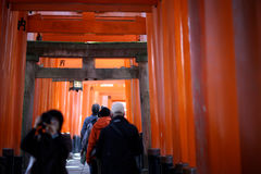 Visitors Buddhist temple Stock Photos