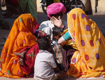 Visitors at Camel fair, Jaisalmer, India Stock Images