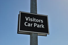 Visitors car park sign Royalty Free Stock Photos