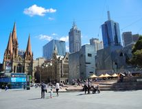 The Visitors Centre in Federation Square in the CBD of Melbourne. stock images
